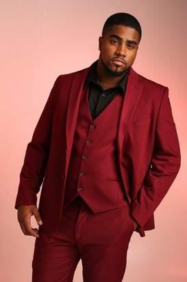 BoohoomanBoohooMAN Mens Red Big & Tall Skinny Fit Suit Blazer, Red