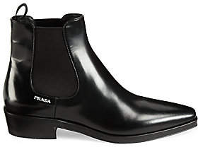 Prada Women's Patent Leather Chelsea Boots