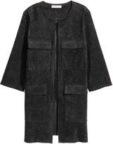 H&M Imitation Suede Coat - Black - Ladies