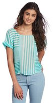 Lucy-Love Lucy Love Juniors Monterey Cuffed Sleeve Top