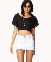 Forever 21 Bleached Denim Mini Skirt