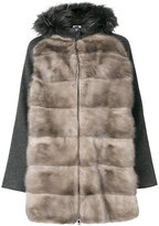 P.A.R.O.S.H. fur panelled jacket - women - Mink Fur/Polyester/Wool/Marmot Fur - S