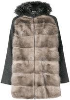 P.A.R.O.S.H. fur panelled jacket
