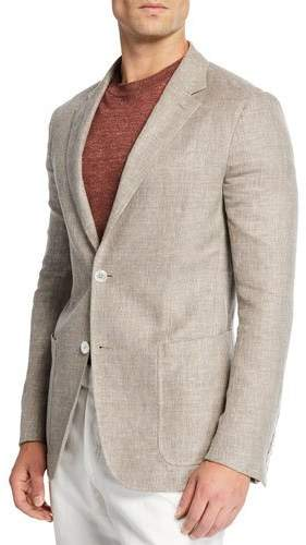 cdffdbbb Men's Crossover Linen Sport Coat