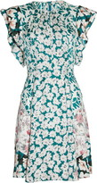 Rebecca Taylor Serene Floral Print Silk Blend Dress