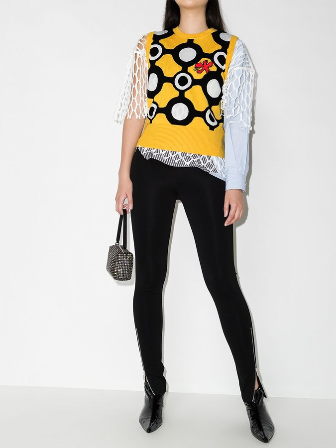 Thumbnail for your product : Charles Jeffrey Loverboy Intarsia-Knit Vest