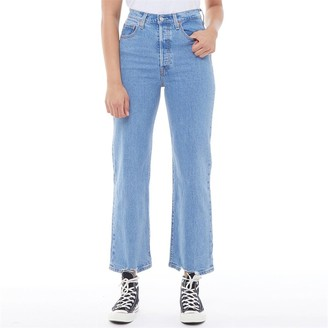 Levi's Womens Ribcages Straight Ankle Jeans Tango Chill