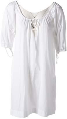 Eres White Cotton Dresses