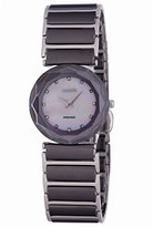 Jowissa Women's J1.052.M Safira 99 Stainless Steel Mother-Of-Pearl Dial Black ceramic Watch