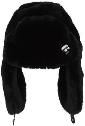Karl Lagerfeld Paris Ikonik Faux Fur Hat