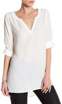 Lucca Couture V-Neck Long Sleeve Tunic Shirt