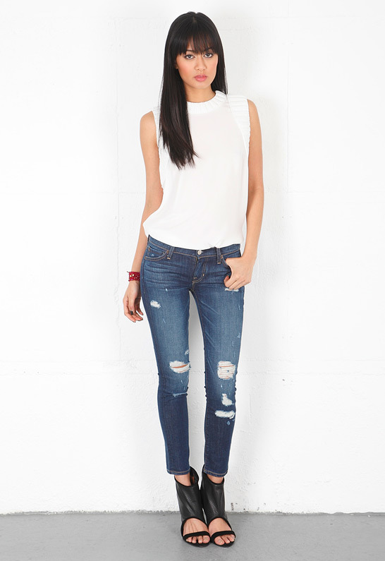 TEXTILE Elizabeth and James Ozzy Skinny Jean in Ripped Wildflower