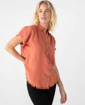 Thread and Supply Thread Supply Frayed Short Sleeve Woven Shirt