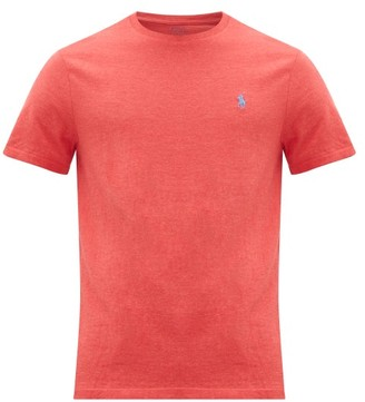 Polo Ralph Lauren Logo-embroidered Cotton-jersey T-shirt - Mens - Red