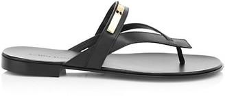 Giuseppe Zanotti Goldtone Leather Sandals