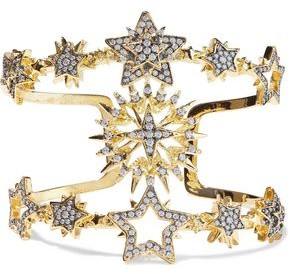 Noir Do You Believe In Magic 14-karat Gold-plated Crystal Cuff