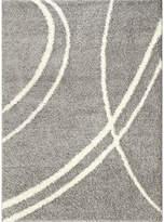 WORLD RUG GALLERY World Rug Gallery Florida Curves Shag Rectangle Rug