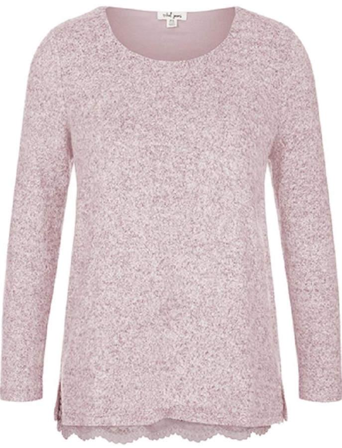 Tribal Lace Trim Sweater
