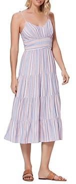 Paige Favella Tiered Midi Dress