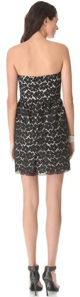 Shoshanna Nicolette Lace Strapless Dress