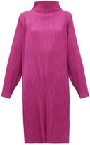 Pleats Please Issey Miyake High-neck Technical-pleated Dress - Womens - Pink