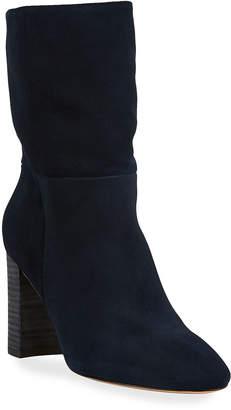 Neiman Marcus Binge Suede Mid-High Boots