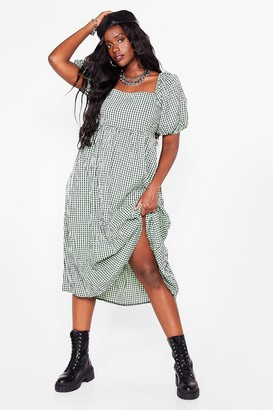 Nasty Gal Womens Check It Out Now Plus Midi Dress - Green
