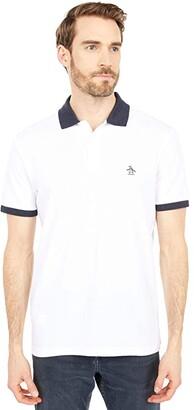 Original Penguin Undercollar Polo (Bright White) Men's Clothing