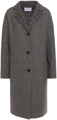 Claudie Pierlot Houndstooth Wool-blend Felt Coat