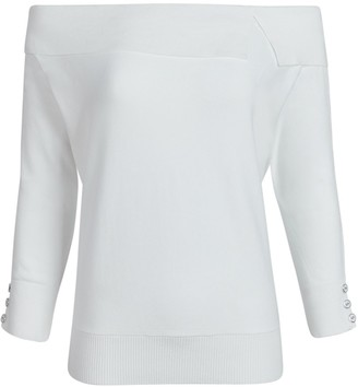 New York & Co. Off-the-Shoulder Fold-Over Top