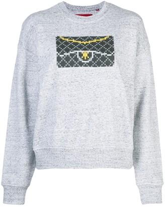 Mostly Heard Rarely Seen 8-Bit Black Clutch sweatshirt