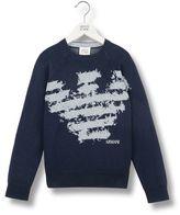 Armani Junior Sweater In Cotton Blend