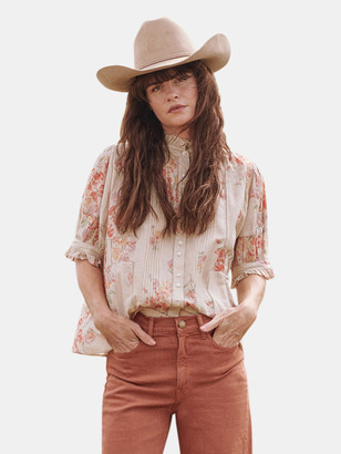 The Great The Fiddle Pleated Floral Top