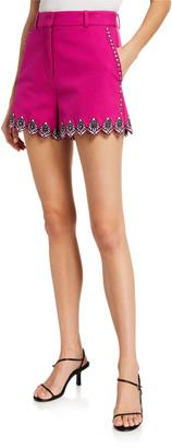 Derek Lam 10 Crosby Lilo Embroidered Shorts