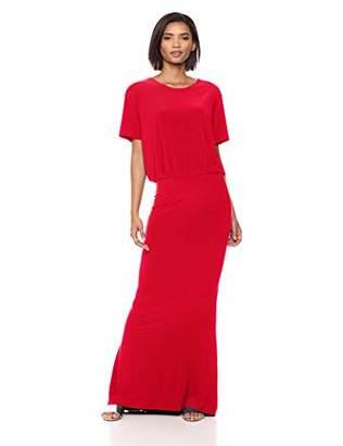 Norma Kamali Women's Short Sleeve Boxy TOP Fishtail Gown