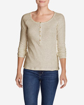 Eddie Bauer Women's Lookout Long-Sleeve Thermal Henley Shirt