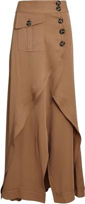 Self-Portrait Asymmetrical Layered Midi Skirt