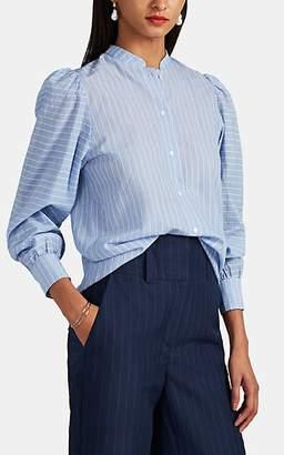 LES COYOTES DE PARIS Women's Helena Pinstriped Cotton Blouse - Blue