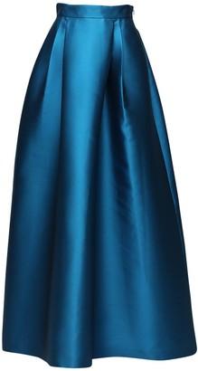 Alberta Ferretti Mikado Satin Maxi Skirt
