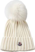 Moncler Pom Pom Ribbed Knit Beanie