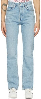 AGOLDE Blue Lana Low-Rise Vintage Straight Jeans
