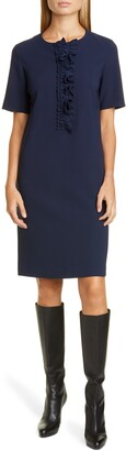 Lafayette 148 New York Bradford Ruffle Placket Shift Dress