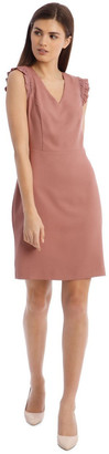 Basque Work Sheath Dress Rose