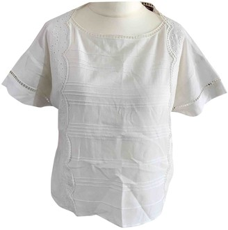 Comptoir des Cotonniers White Cotton Top for Women