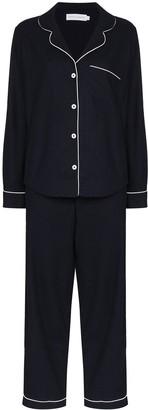 Desmond & Dempsey Brushed-Cotton Pyjama Set