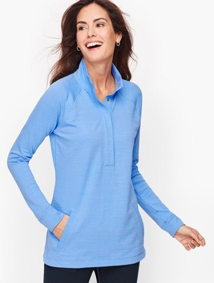 Talbots Slub Terry Long Sleeve Pullover