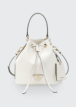 Prada Saffiano Bucket Bag w/ Removable Crossbody Strap