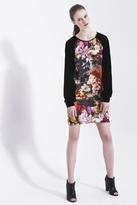 Carnet de Mode Dress - Bicolored - Flower printed