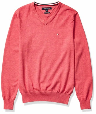 Tommy Hilfiger Men's Solid V Neck Sweater