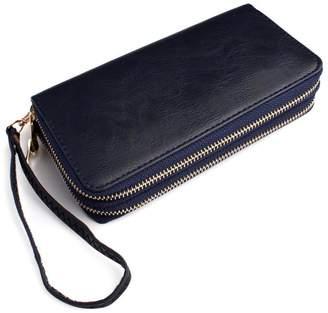 Riah Fashion Double Zipper Wallet